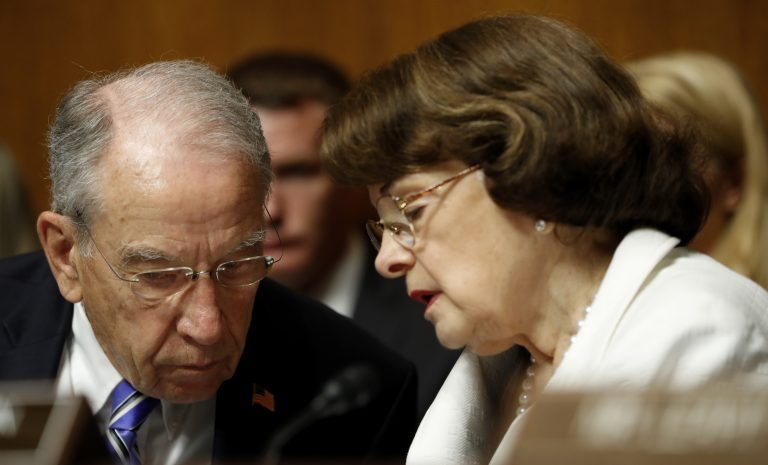 On Tuesday, Sen. Dianne Feinstein, D-Calif., released testimony that Fusion GPS founder Glenn Simpson gave to the Senate Judiciary Committee. She released the material without coordinating with committee Chairman Chuck Grassley, R-Iowa. (Pablo Martinez Monsivais/AP)