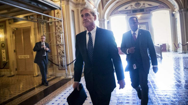 Special counsel Robert Mueller at the Capitol in June. The New York Times reports President Trump intended to fire him that month but was dissuaded by White House Counsel Don McGahn.