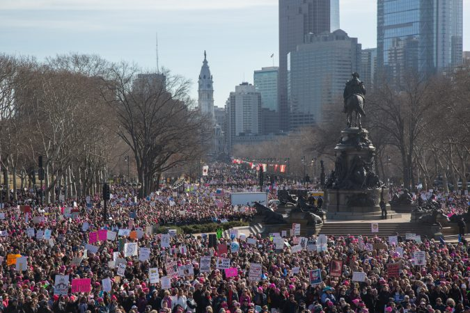 The 2018 Womens March on Philadelphia, January 20, 2018. (Emily Cohen for WHYY)