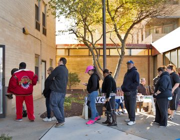 In this file photo, voters line up outside the B'nai B'rith apartments on Election Day in Allentown, Pennsylvania.