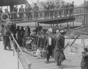United States Circa 1900: Immigrants arriving at Ellis Island, New York. (Buyenlarge/Getty Images)