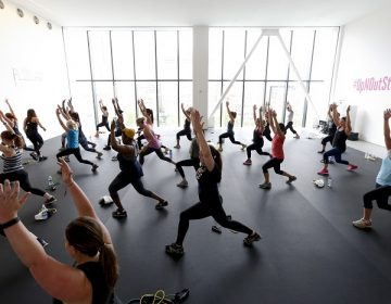 IMAGE DISTRIBUTED FOR SELF - Fitness enthusiasts are seen participating in a class at SELF Up & Out Studio on Saturday, June 27, 2015,  in New York. (Brian Ach/AP Images for Self)