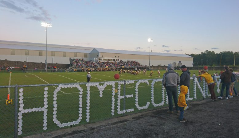 Titusville fans gather to watch the homecoming football game (Kevin McCorry/WHYY)