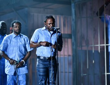 Kendrick Lamar performs at the 2016 Grammy Awards. The rapper is nominated in seven categories this year. (Kevork Djansezian/Getty Images for NARAS)