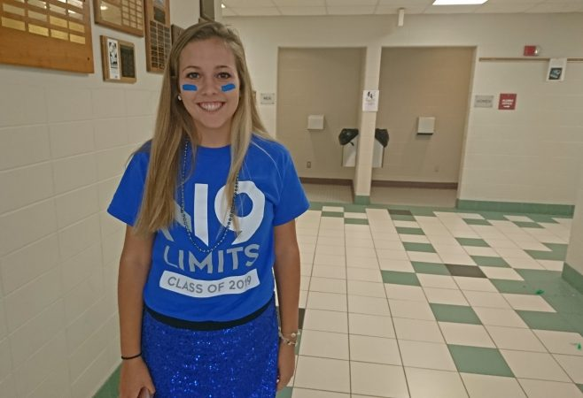Titusville junior Heidi Drake wants to be an eye surgeon (Kevin McCorry/WHYY)