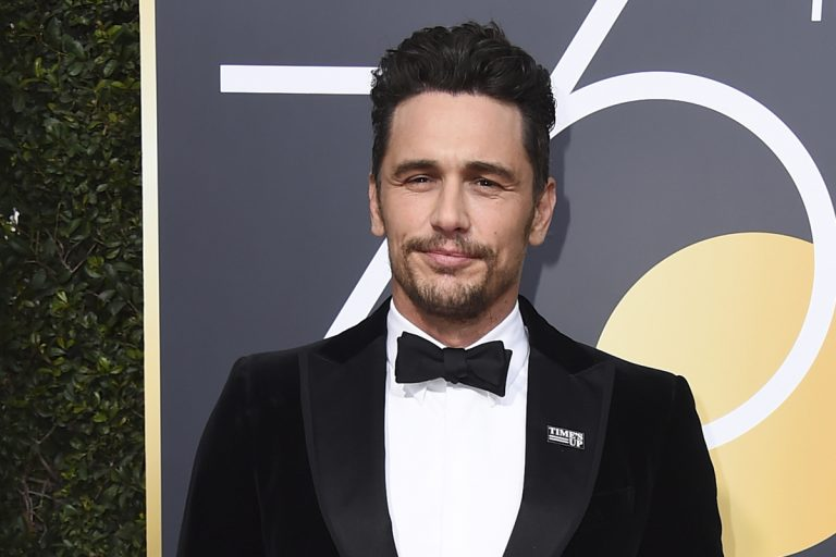 James Franco at the 75th annual Golden Globe Awards