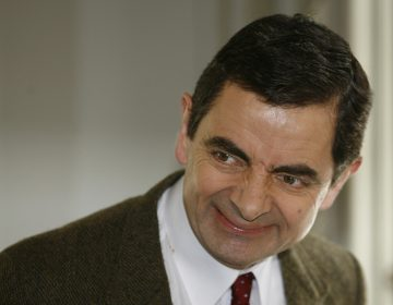 British actor Rowan Atkinson, playing his character Mr. Bean, arrives in Madrid in 2007.