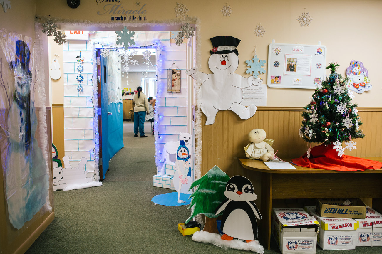 A view of the outside of the day program room. (