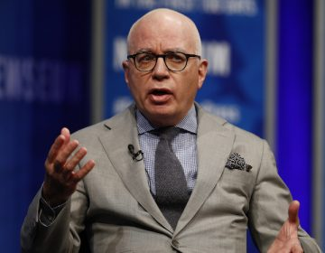 Michael Wolff of The Hollywood Reporter speaks at the Newseum in Washington, Wednesday, April 12, 2017, as he moderates a conversation with Counselor to President Donald Trump Kellyanne Conway during