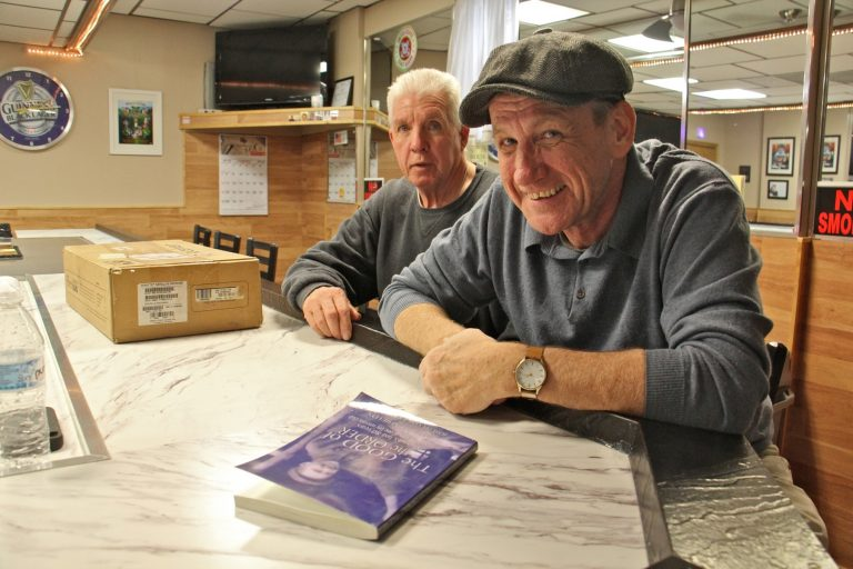 Gerald Shields (right), author of