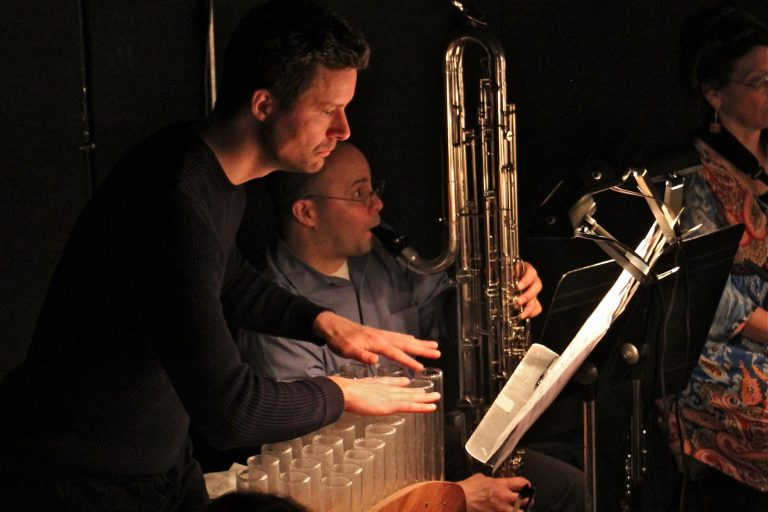 Friedrich Heinrich Kern plays a version of the glass harmonica called the verrophone for Opera Philadelphia's production of