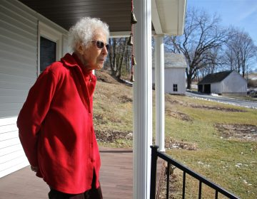 From the porch of her Palmerton farmhouse, Albertine Anthony looks out on the rolling hills of lower Carbon County. She believes the PennEast pipeline's proposed route through her 124-acre farm threatens her water supply.