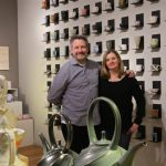 Chris Taylor, president of the Clay Studio, and Jennifer Martin, vice president, are moving their studio out of Old City to a larger site on North American Street in Philadelphia's Kensington neighborhood. (Emma Lee/WHYY)