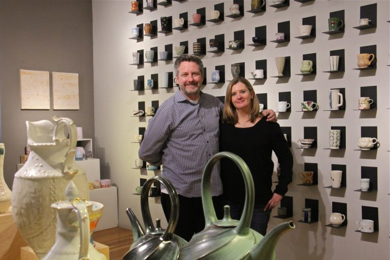 Chris Taylor, president of the Clay Studio, and Vice President Jennifer Martin, are moving their studio out of Old City to a larger site on North American Street.