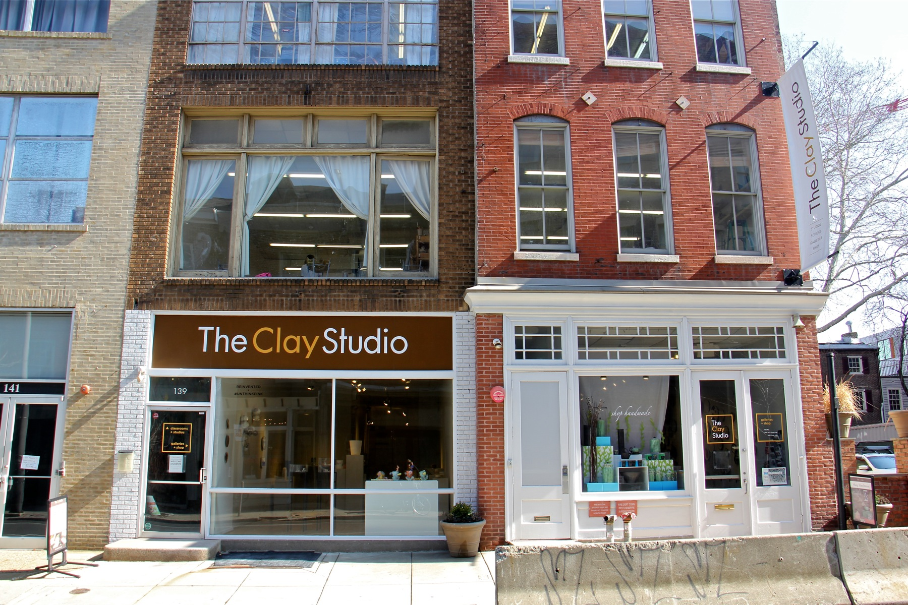 The Clay Studio currently occupies a couple of storefronts on Second Street in Old City.