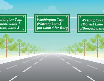 Travel advisory: Your GPS does not always take you to the nearest Washington Township. (Alan Tu/WHYY)