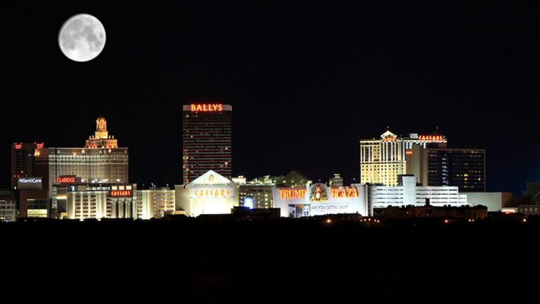 Undated photo shows the Atlantic City skyline at night. (Big Stock Image)