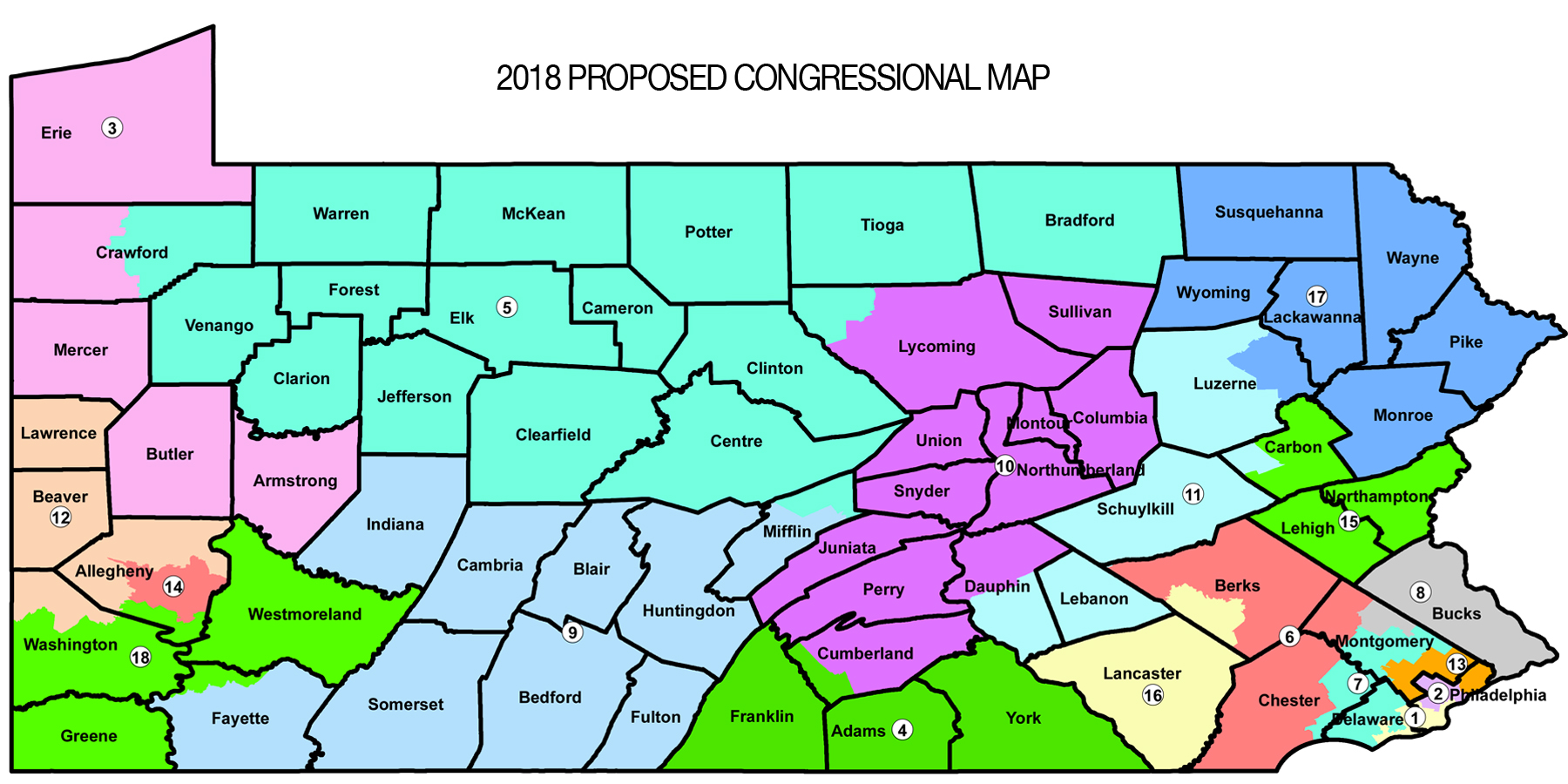 GRAPHIC Pa Republican Leaders Propose New Congressional Map On - Map pa