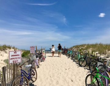 A Jersey Shore beach scene.