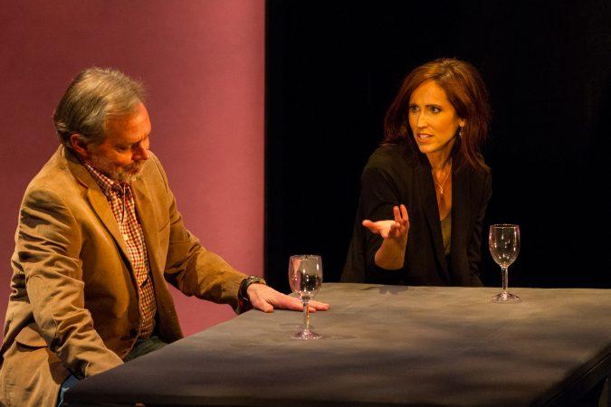 Delaware Theatre Company's 2018 production of Heisenberg. By Simon Stephens, Directed by Matt Pfeiffer. (Matt Urban/Mobius New Media)