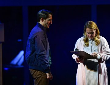 Ben Dibble and Krissy Fraelich as husband and wife in Media Theatre's production of the musical