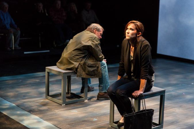 Bud Martin and Karen Peakes star in Delaware Theatre Company's 2018 production of Heisenberg. By Simon Stephens, Directed by Matt Pfeiffer. (Matt Urban/Mobius New Media)