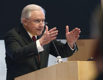 U.S. Attorney General Jeff Sessions gestures during a speech on Security and Immigration priorities before a group of law enforcement officials in Norfolk, Va., Friday, Jan. 26, 2018.
