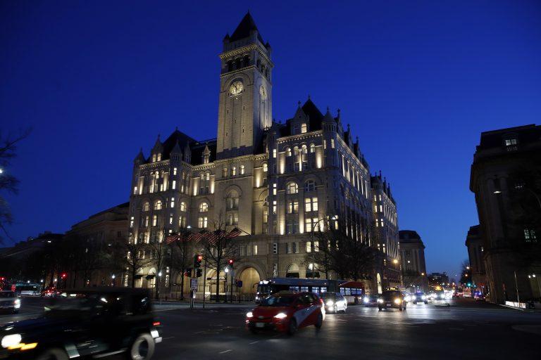 The Trump International Hotel is seen, Tuesday, Jan. 30, 2018, in Washington.