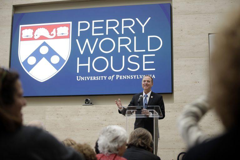 U.S. Rep. Adam Schiff, D-California., ranking member of the House Intelligence Committee, speaks at the University of Pennsylvania in Philadelphia Thursday. (AP Photo/Matt Rourke)