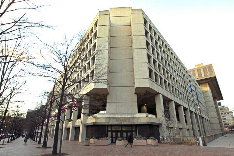 The FBI building in Washington, Friday, Feb. 2, 2018.