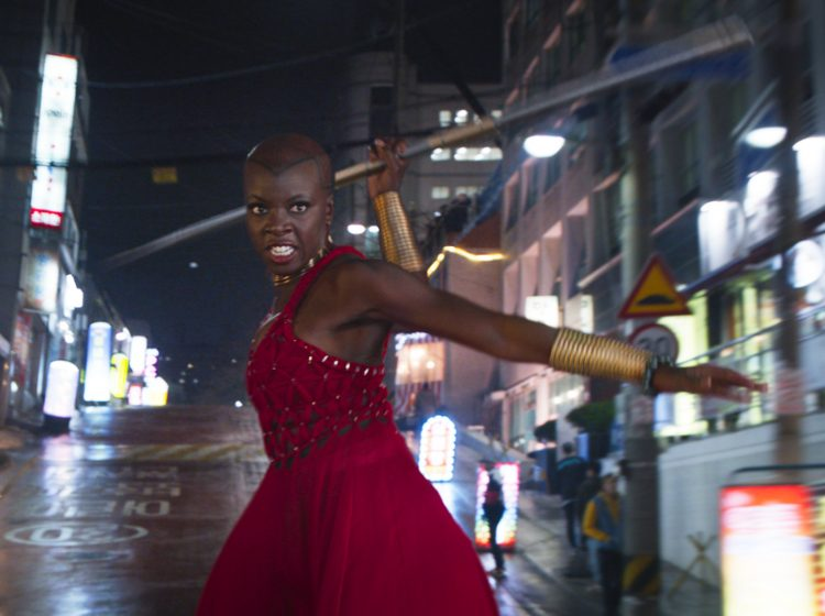 This image released by Disney shows Danai Gurira in a scene from Marvel Studios'