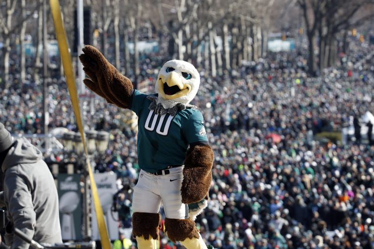online retailer a2430 82eea 6 highlights from the Eagles Super Bowl parade - WHYY
