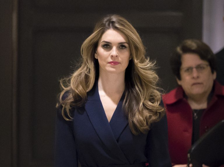 White House Communications Director Hope Hicks, one of President Trump's closest aides and advisers, arrives to meet behind closed doors with the House Intelligence Committee, at the Capitol in Washington, Tuesday, Feb. 27, 2018. (J. Scott Applewhite/AP Photo)