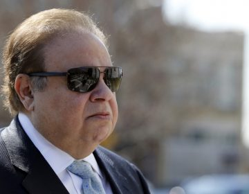 In this April 2, 2015, file photo, Dr. Salomon Melgen arrives at the Martin Luther King Jr. Federal Courthouse for his arraignment, in Newark, N.J. (Julio Cortez/AP Photo, File)