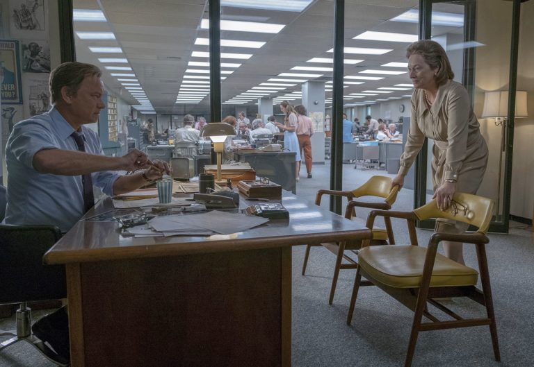 In this image released by 20th Century Fox, Tom Hanks portrays Ben Bradlee, (left), and Meryl Streep portrays Katharine Graham in a scene from