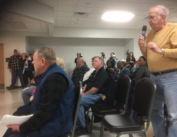 Blades residents expressed health concerns at a town hall meeting.