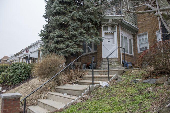 The home of Irene Garner on the 6500 block of North 16th St. where her grandson Daymond Garner was murdered. (Jonathan Wilson for WHYY)
