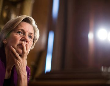 Massachusetts Sen. Elizabeth Warren, above, and Virginia Sen. Mark Warner are introducing legislation that would levy harsh penalties for security breaches at credit-rating agencies. (Drew Angerer/Getty Images)