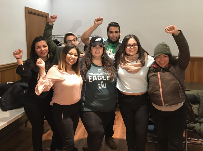 Local DACA beneficiaries and members of Juntos call on the Philadelphia Eagles to boycott a customary White House visit for Super Bowl winners
