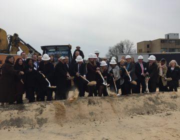 Belmont Behavioral Health Hospital breaks ground on its new, $110 million dollar facility. (Dana Bate/for WHYY)