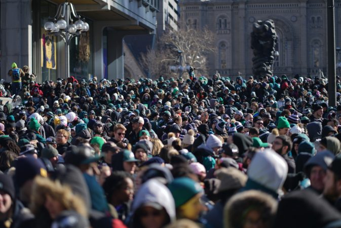 Scenes from the Eagles Super Bowl parade (Branden Eastwood for WHYY)