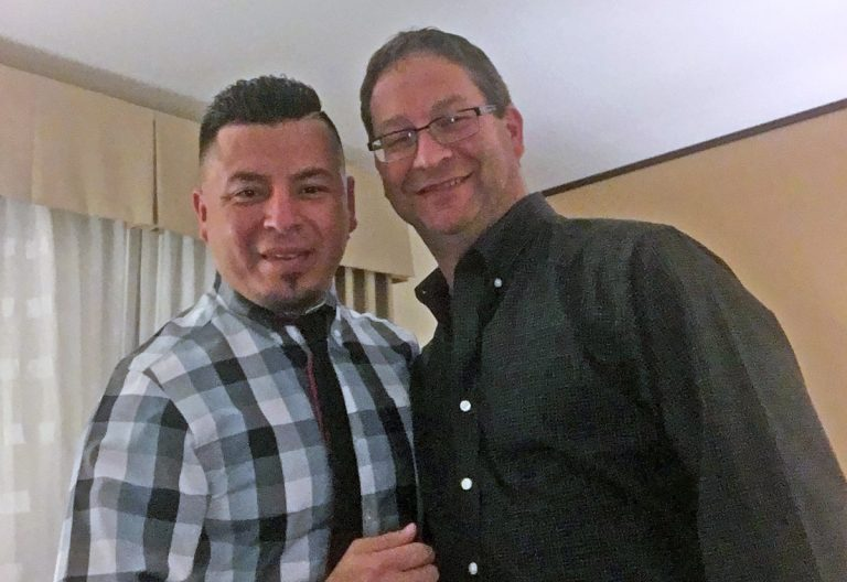 "On Jan. 31, when Jose ""Ivan"" Nuñez Martinez and Paul Frame showed up in Philadelphia for a mandatory interview to adjust Martinez's immigration status, U.S. Immigration and Customs Enforcement officers arrested him. (Provided)"
