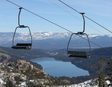 On Jan. 28, 2015, with a record low snowpack, chairs sit idle on a ski lift at Donner Ski Ranch in Norden, Calif. (Rich Pedroncelli/AP)