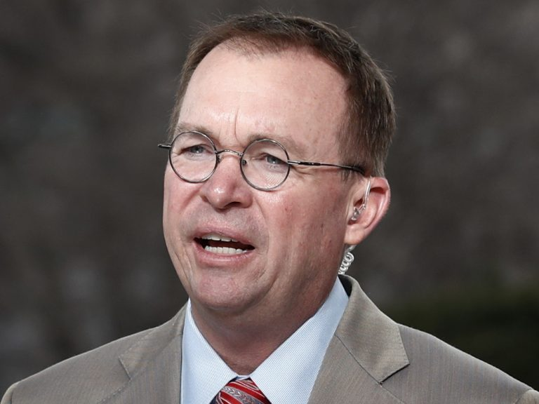 Director of the Office of Management and Budget Mick Mulvaney is also the interim director of the Consumer Financial Protection Bureau. (Carolyn Kaster/AP)