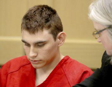 Nikolas Cruz appears in court for a status hearing in Fort Lauderdale, Florida. (Mike Stocker/AP)