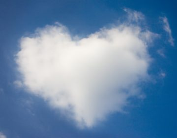 heart cloud at valentine day