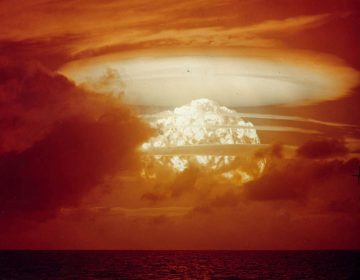On March 1, 1954, the U.S. conducted its largest nuclear test with a yield of 15 megatons. The new Russian weapon would be up to 100 megatons, according to reports. (USAF Lookout Moutain Laboratory)