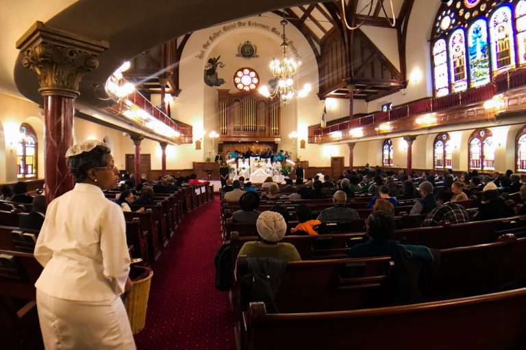 Mother Bethel African Methodist Episcopal Church in Philadelphia, Pennsylvania. (Alex Stern/WHYY)