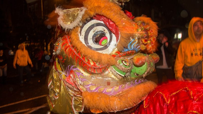 The Philly Suns is a community support movement for young Chinese-Americans in Philadelphia. They celebrate the Chinese New Year in Phildelphia's Chinatown with many lion dances on February 15, 2018. (Emily Cohen for WHYY)