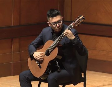 Guitarist Xiaobo Pu performs On Stage at Curtis.